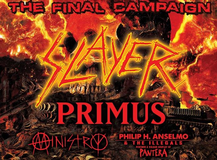 Videos y setlists: Así se vive la gira de Slayer, Primus, Phil Anselmo y Ministry