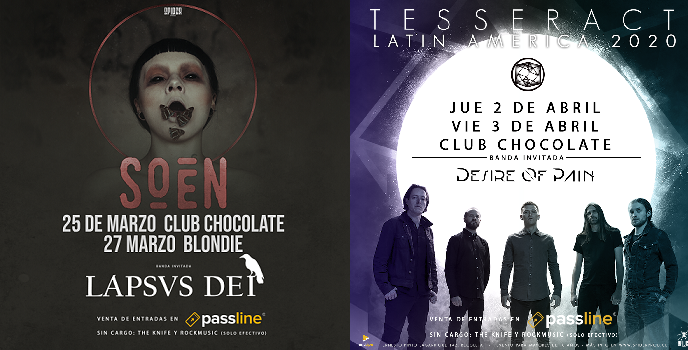 Soen y Tesseract lanzarán setlists especiales en sus respectivos shows en Chile