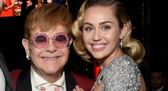 """Miley Cyrus lanzará versión de """"Nothing Else Matters"""" de Metallica con Elton John y Chad Smith"""