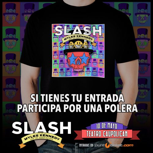 "CONCURSO: Gana poleras del último disco de Slash, ""Living The Dream"""