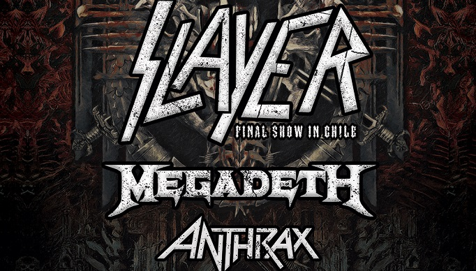 Anthrax, Megadeth y Slayer juntos en Chile: Santiago Gets Louder confirma cartel oficial