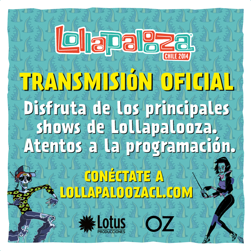 Lollapalooza Chile 2014 se transmitirá vía streaming