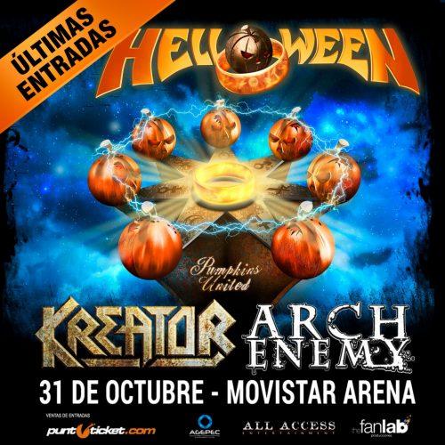 Helloween y Kreator grabarán su concierto en Chile