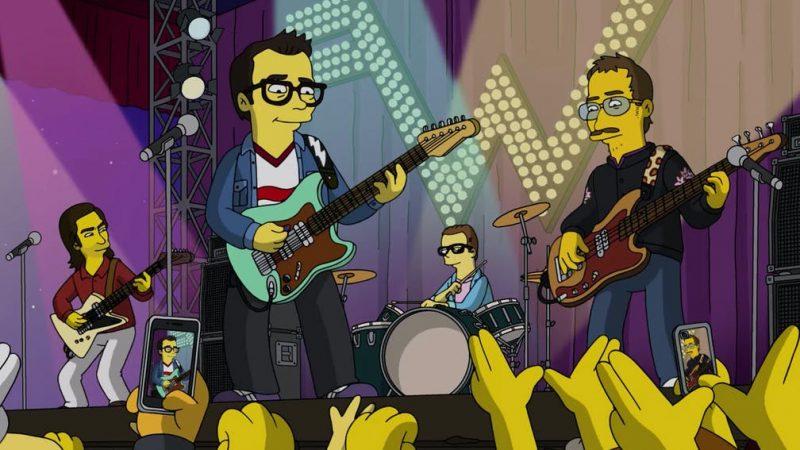 Weezer aparecen en el nuevo episodio de Los Simpsons tocando su nuevo tema