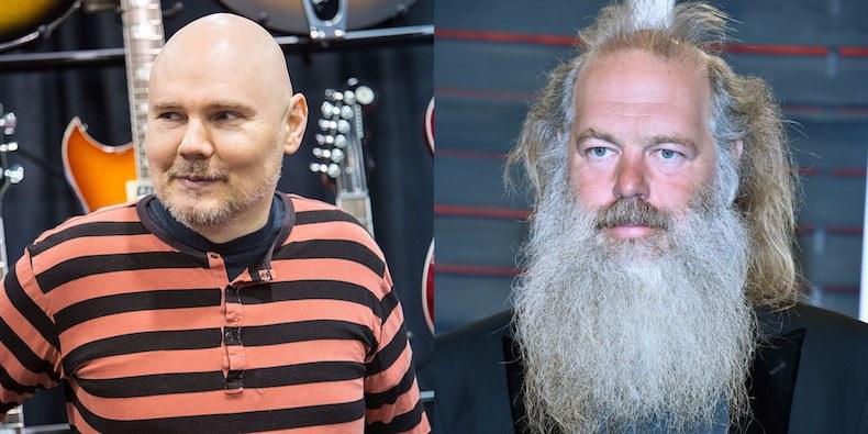 Billy Corgan da pistas de trabajo con el productor Rick Rubin en el estudio para lo nuevo de The Smashing Pumpkins