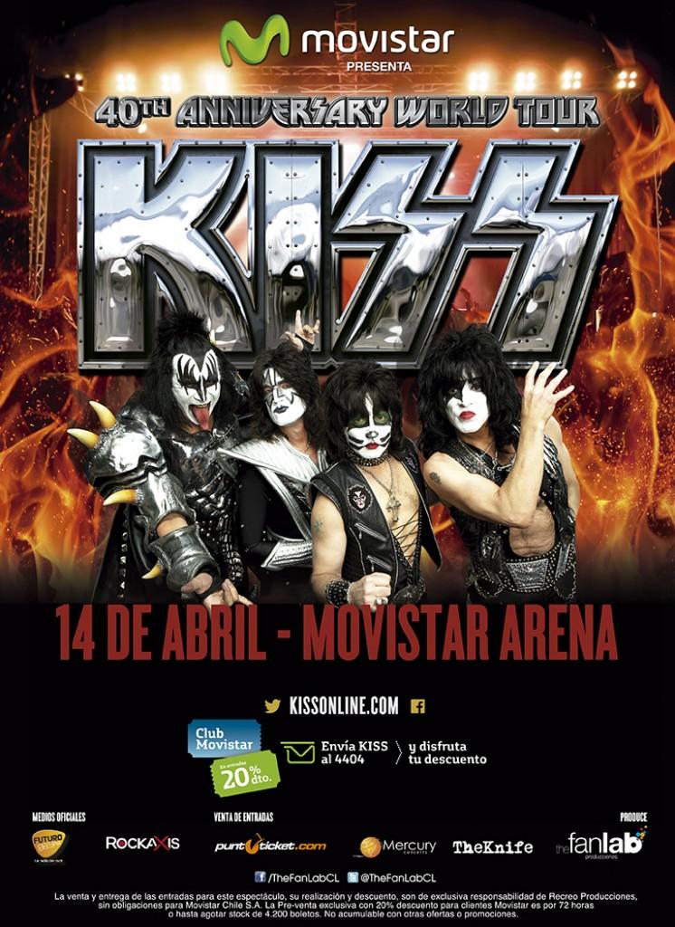 Show de Kiss en Chile agota localidades, revisa el avance de la venta de entradas
