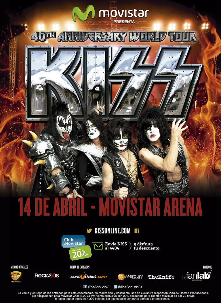 Show de Kiss en Chile finaliza preventa e inicia venta general