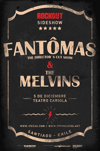 Se confirma sideshow de Melvins y Fantomas en Chile