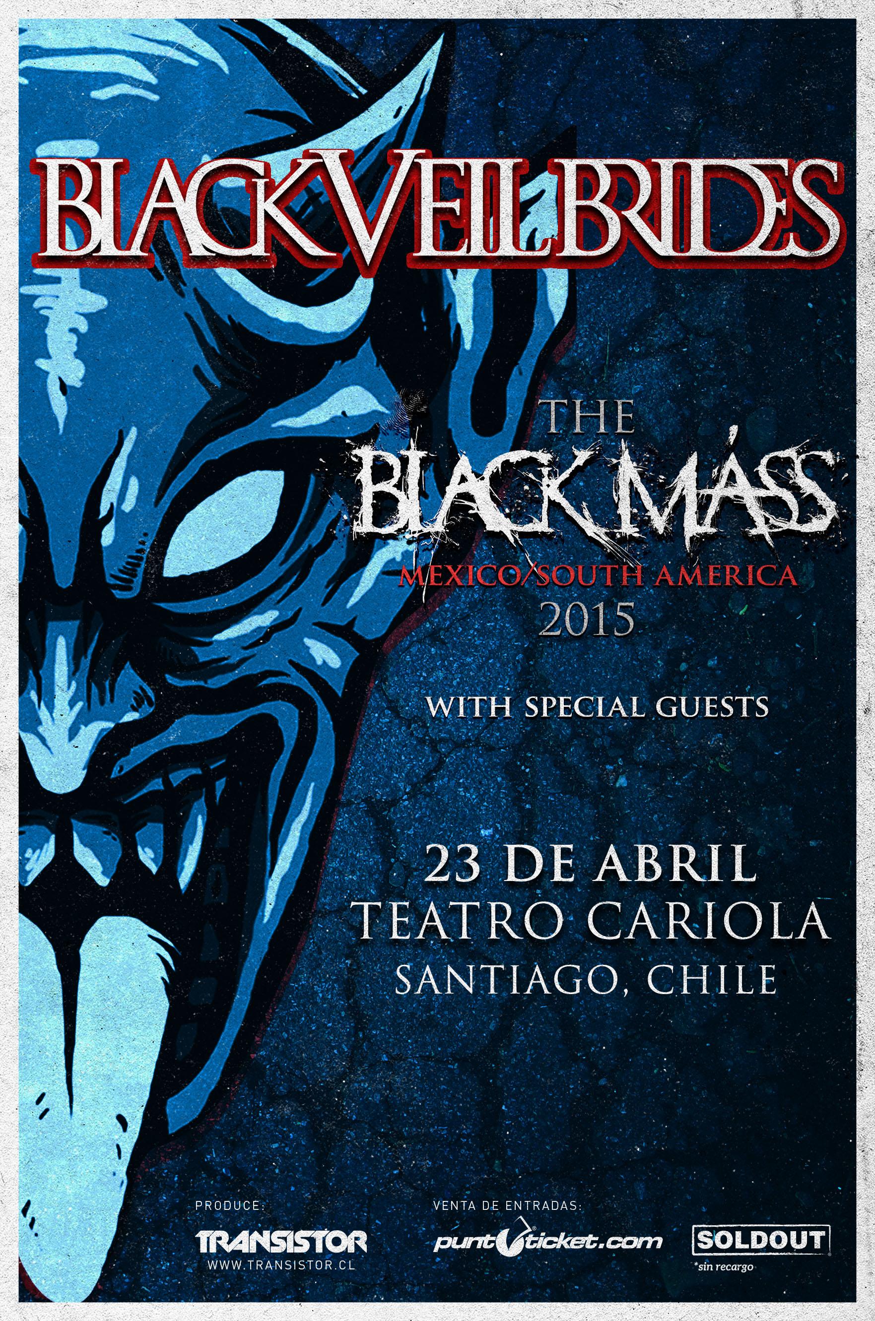 Black Veil Brides y Coal Chamber anuncian concierto en Chile para abril de 2015