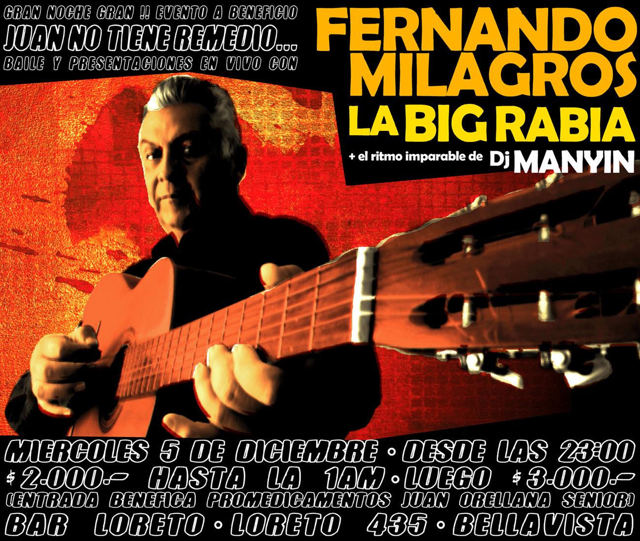 La BIG Rabia y Fernando Milagros se presentan en evento a beneficio