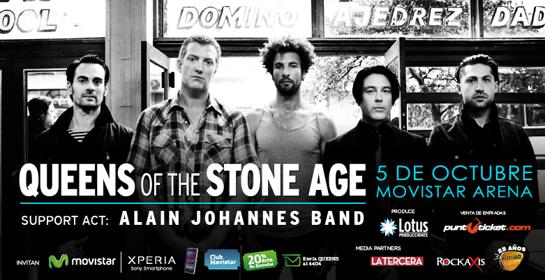 Alain Johannes Band abrirá el show de Queens of the Stone Age en Chile