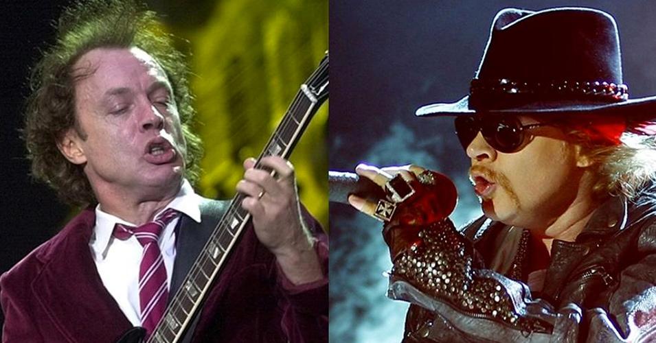 VIDEO: Axl Rose cantó junto a Angus Young temas de AC/DC anoche en Coachella