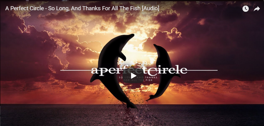 """Cancionero Rock: """"So Long, and Thanks for All the Fish"""" – A Perfect Circle (2018)"""