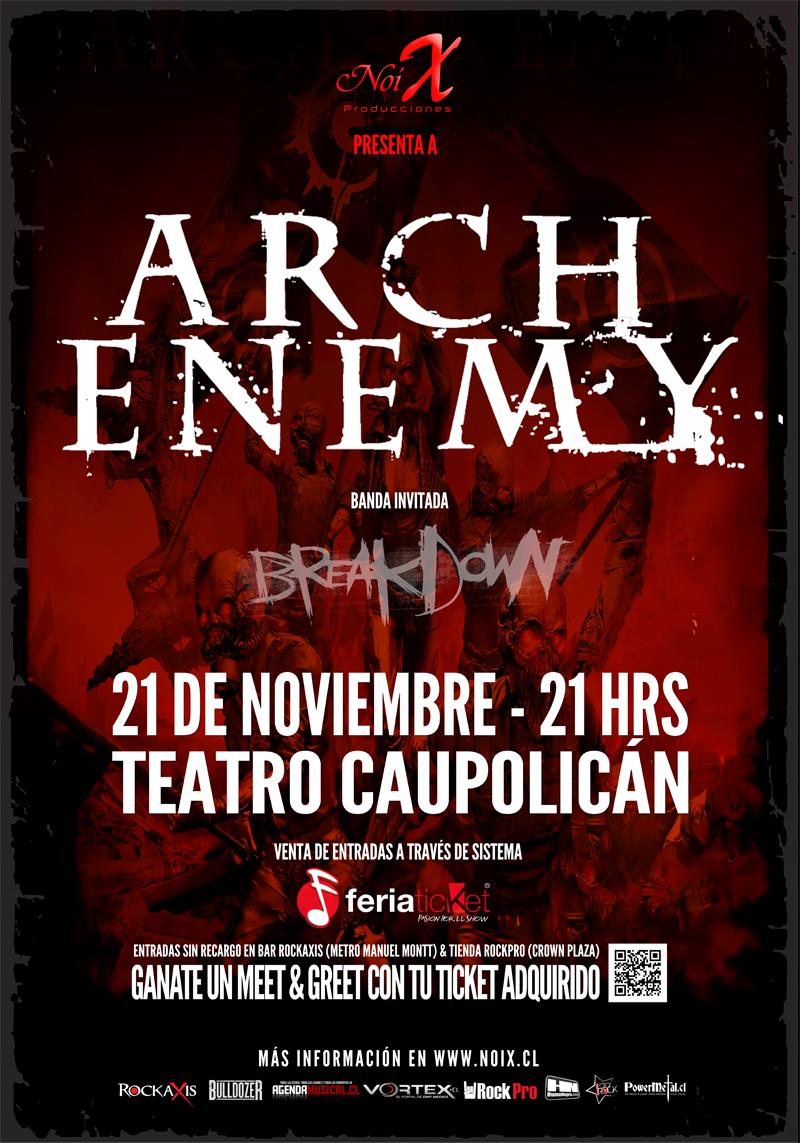 Arch Enemy anuncia la grabación de DVD en Chile