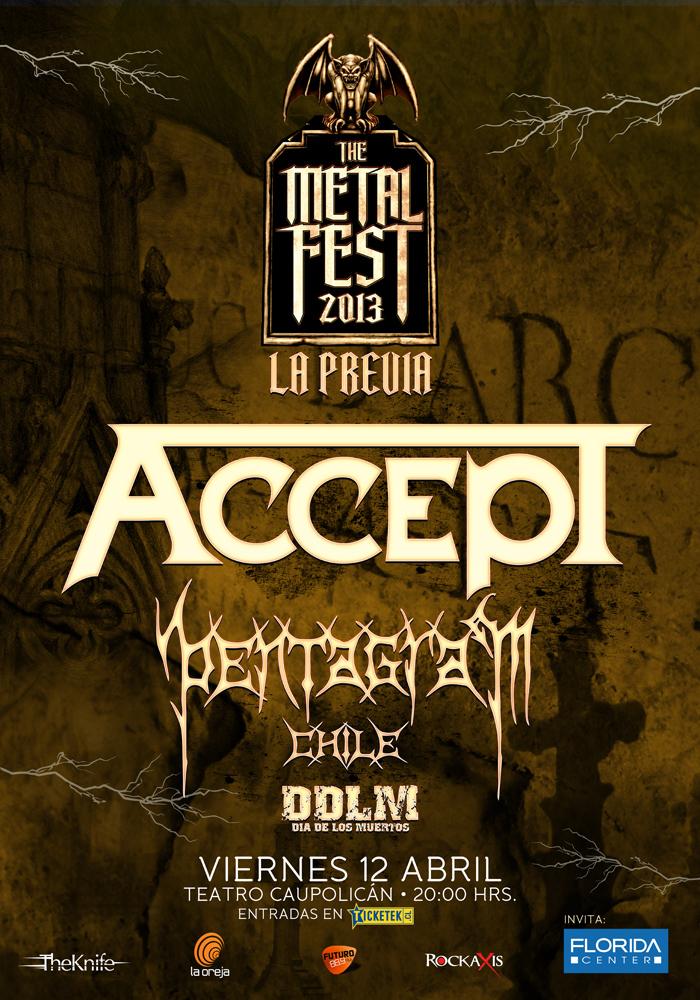 Accept, Pentagram y Día de los Muertos en previa al Metal Fest