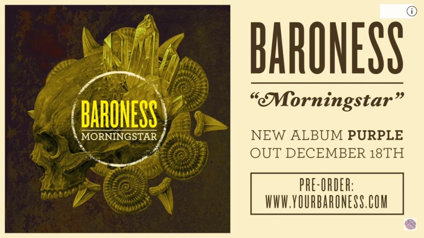 Baroness estrena nuevo adelanto de su nuevo disco de estudio, escucha 'Morningstar'