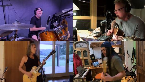 """Metallica comparte una asombrosa versión desenchufada de """"Blackened"""" en modo cuarentena"""