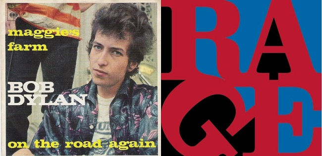 "2×1: ""Maggie's Farm"" Bob Dylan vs. Rage Against the Machine"