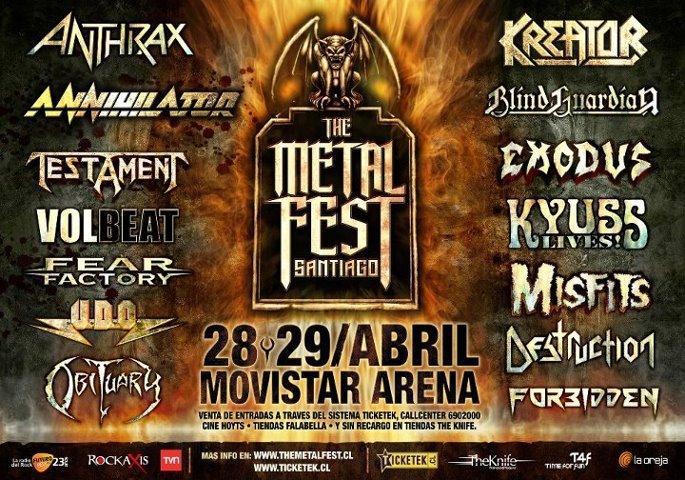 """Metal Fest 2012: Obituary """"Una brutal bienvenida"""""""