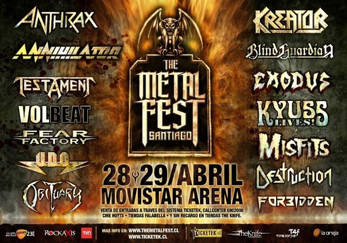 "Metal fest 2012: Annihilator ""La renovada vieja escuela del thrash"""
