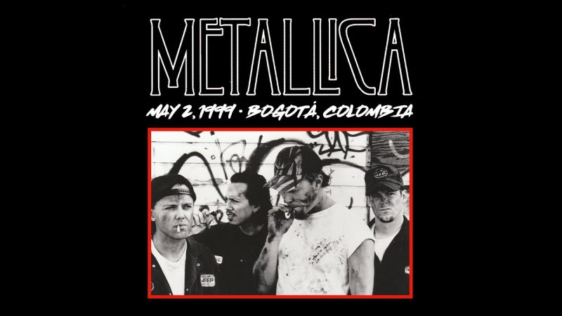 Metallica transmitirá hoy su primer show en Colombia de 1999