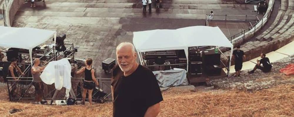 Estrenarán show en Pompeya de David Gilmour en salas de cine locales