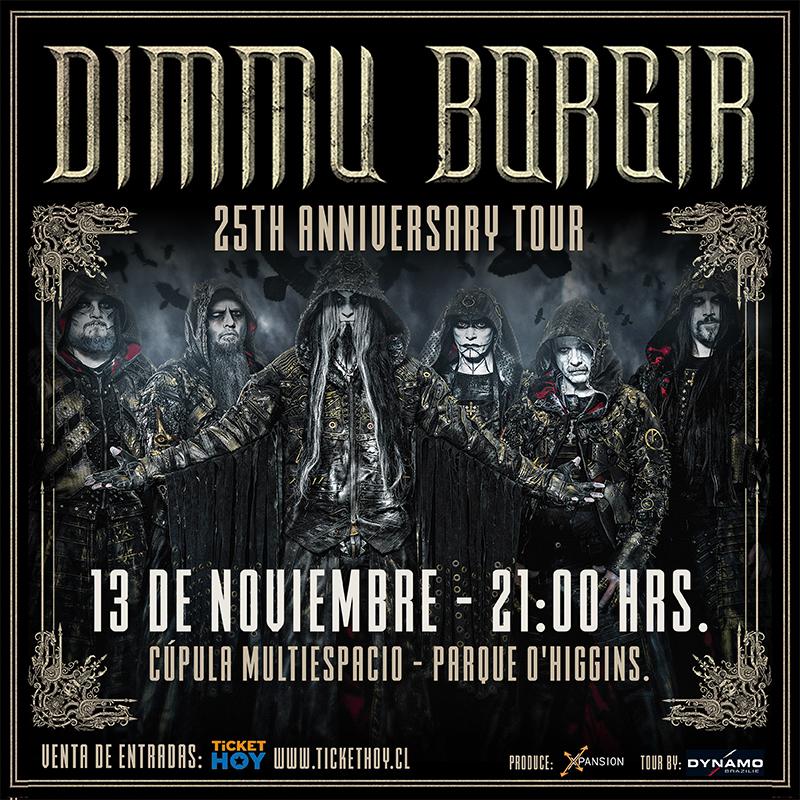 Confirmado: Dimmu Borgir anuncia show en Chile para noviembre