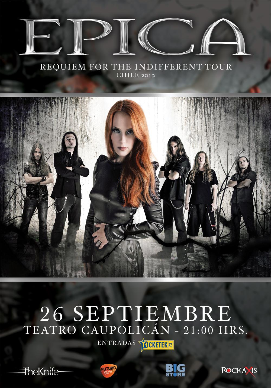 Epica regresa a Chile este 26 de septiembre