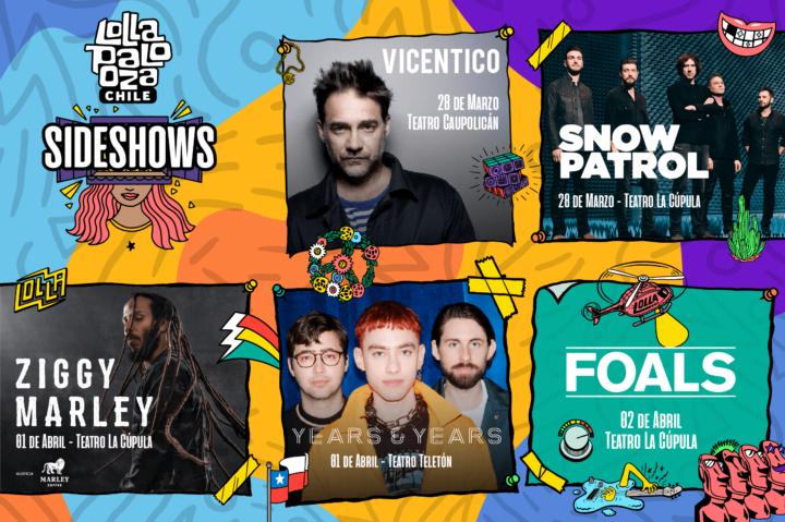 Foals, Vicentico, Ziggy Marley y más: Lollapalooza 2019 anuncia sus Sideshows, revisalos acá