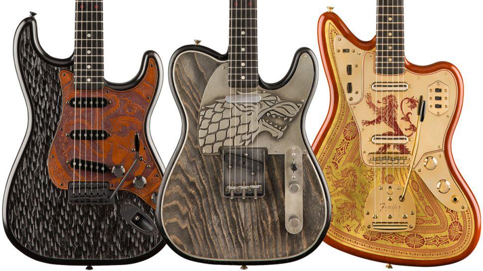 """Conoce la nueva línea de guitarras Fender """"Game of Thrones"""""""