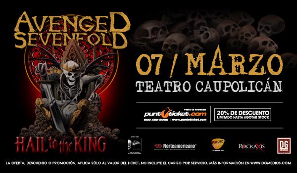 Avenged Sevenfold regresa a Chile el próximo 7 de marzo