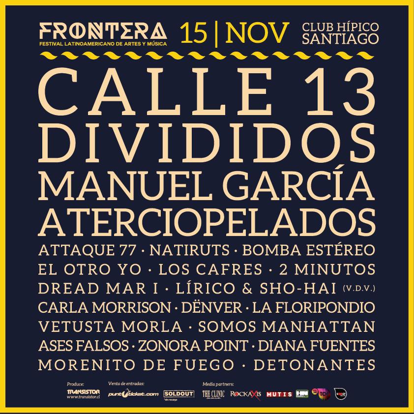 Festival Frontera suma a Aterciopelados y Manuel García y anuncia cartel completo
