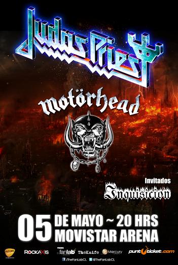 Se confirma a Inquisición como telonero nacional para Motörhead y Judas Priest en Chile