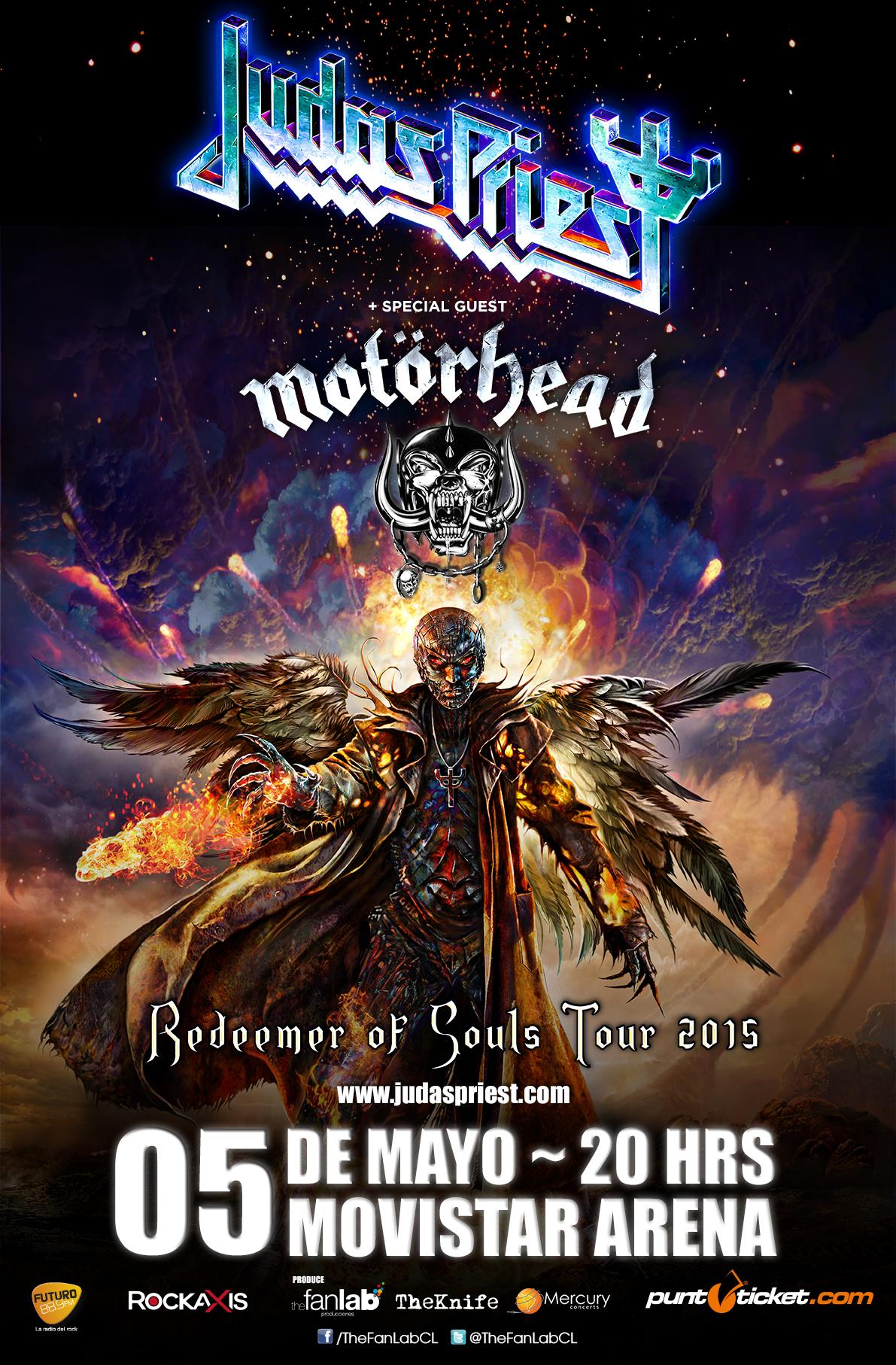 Motörhead y Judas Priest anuncian  concierto juntos en mayo 2015