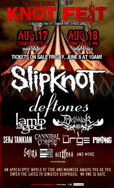 Detalles de festival de Slipknot y nuevos videos de 'Antennas to Hell'