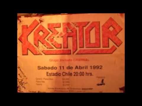 NR En Vivo: Kreator y el inicio de su amor por Chile. Estadio Chile, 1992