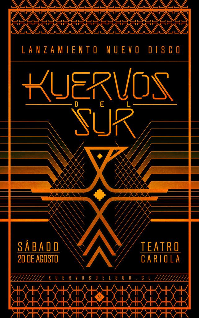 """Gana entradas para el lanzamiento de """"El Vuelo del Pillán"""", el nuevo disco de Kuervos del Sur"""