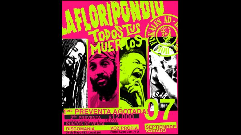 Festival Sudamerican Rockers reunirá a La Floripondio junto a Todos Tus Muertos y Fiskales Ad-Hok