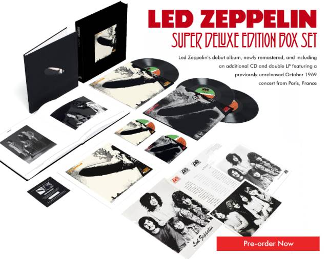 Se revela arte y detalles de las reediciones de lujo de los tres primeros álbumes de Led Zeppelin