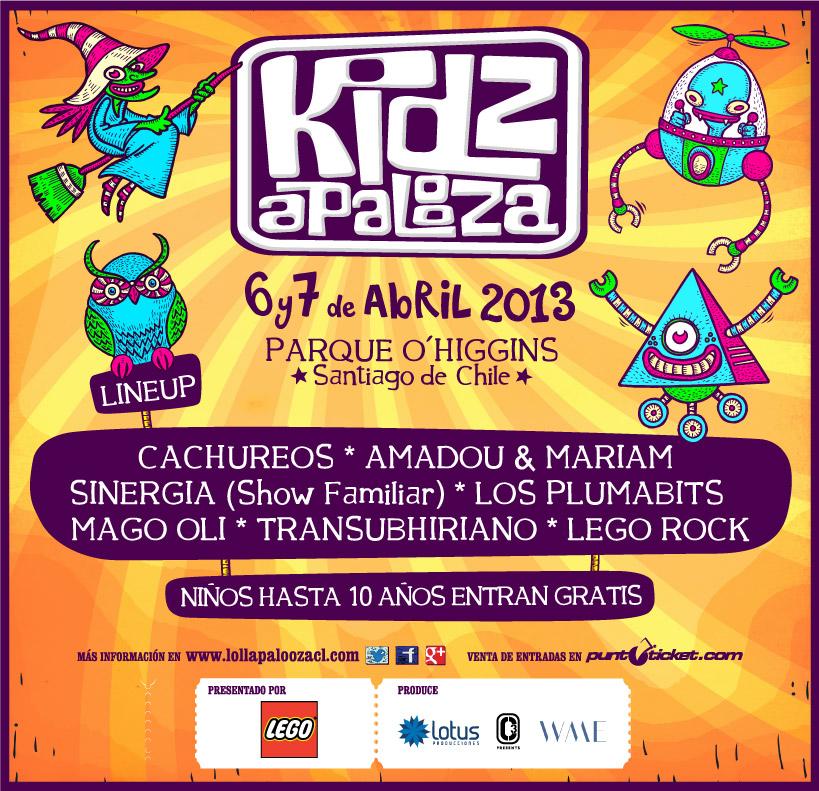 Lollapalooza revela line up de Kidzapalooza