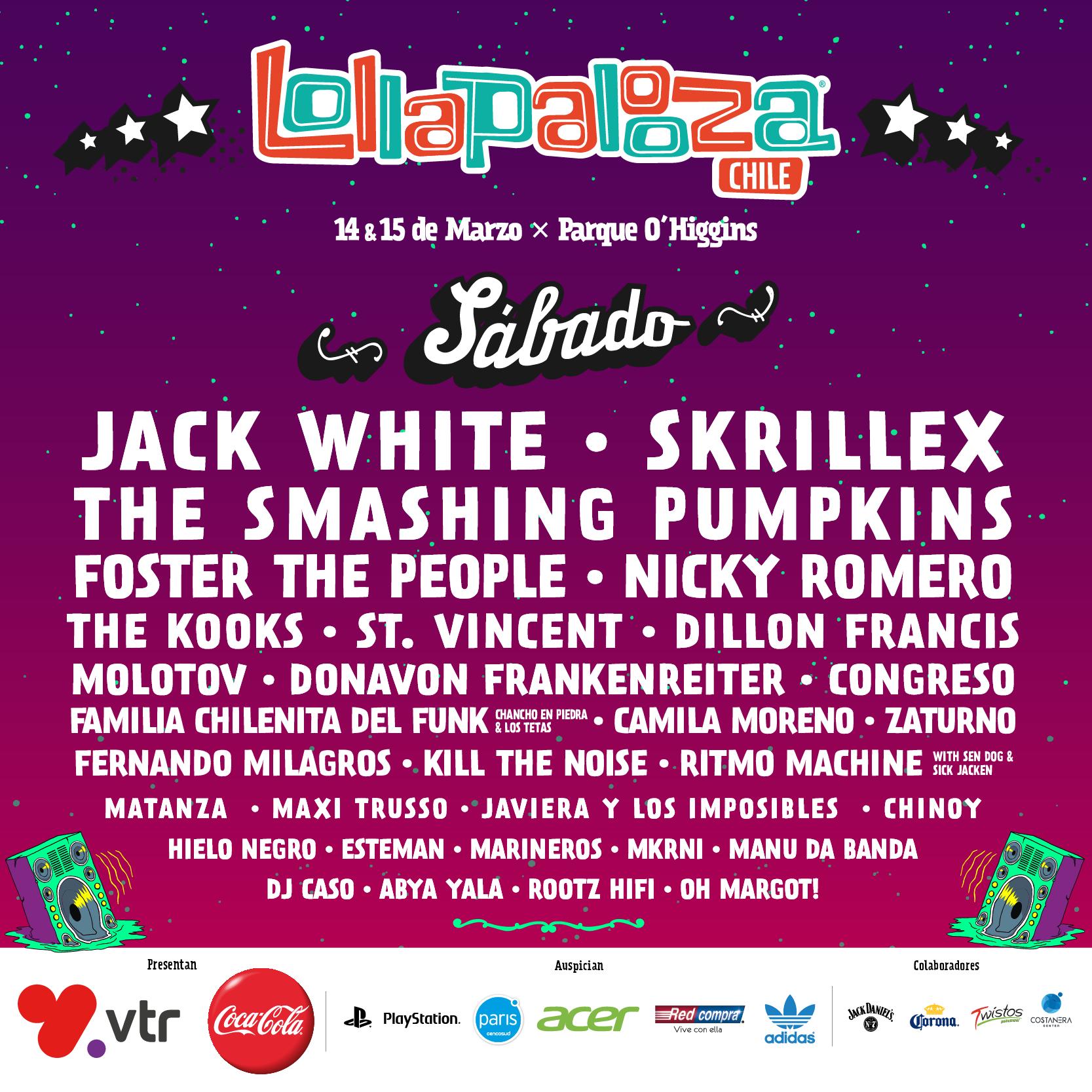 Lollapalooza Chile 2015 será transmitido por señal de televisión y streaming