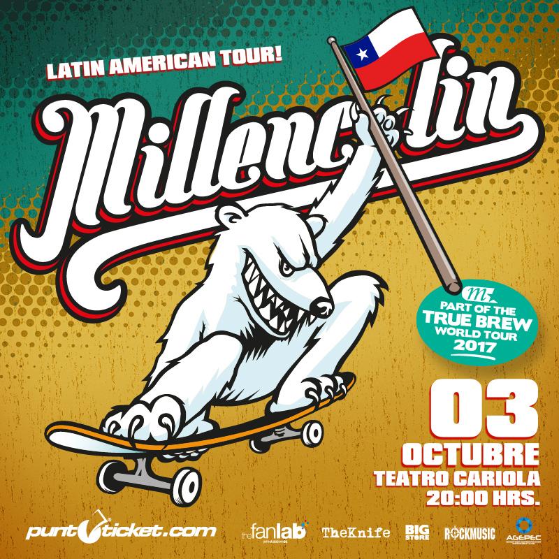 Los suecos skate punk de Millencolin vuelven a Chile en octubre