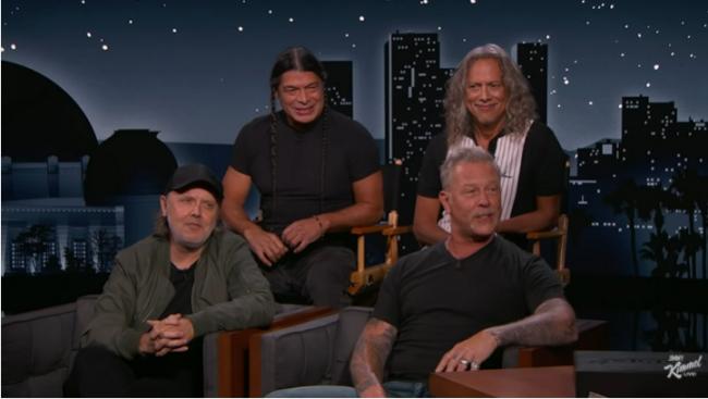 """Metallica se presentó en el show de Jimmy Kimmel respondiendo críticas al 'Album Negro' y a """"Blacklist"""""""
