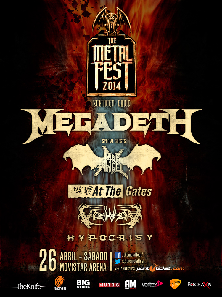 Se revelan horarios de las bandas internacionales del Metal Fest 2014