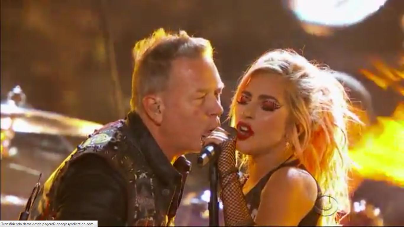VIDEO: Mira a Metallica y Lady Gaga compartiendo escenario en los Grammy's 2017
