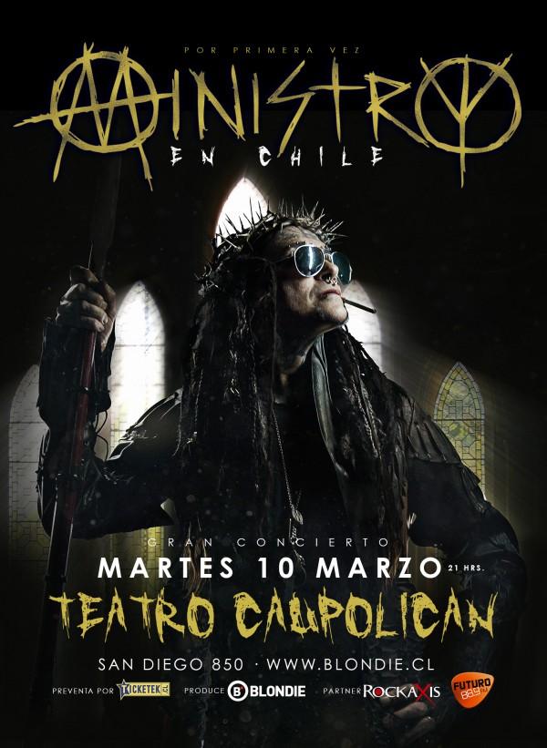 Se confirma concierto de Ministry en Chile para marzo de 2015
