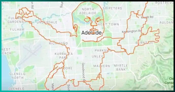 Bebé de Nevermind a gran escala: ciclista lo dibuja en el mapa recorriendo 150 kilómetros en ciudad australiana