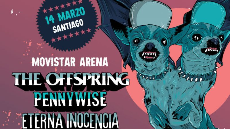 The Offspring en Chile se cambia al Movistar Arena