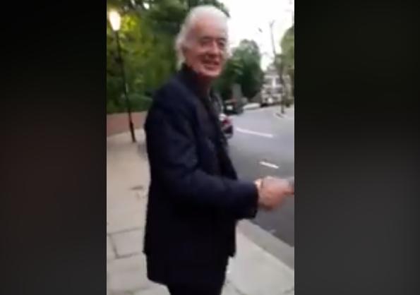 Músicos chilenos visitaron la casa de Jimmy Page y se les apareció él mismo y los saludó muy buena onda