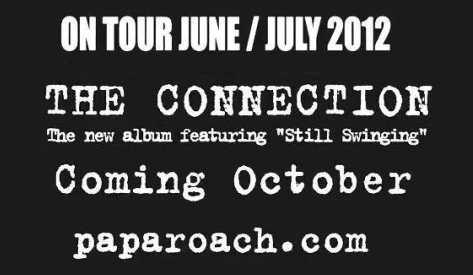 """Papa Roach , regresa con """"The Connection"""", un nuevo disco de estudio"""